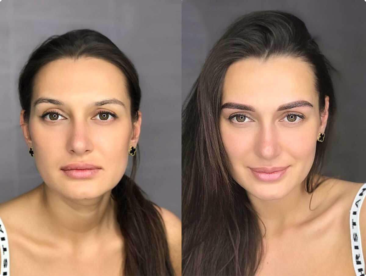 Перманентный макияж лица до и после