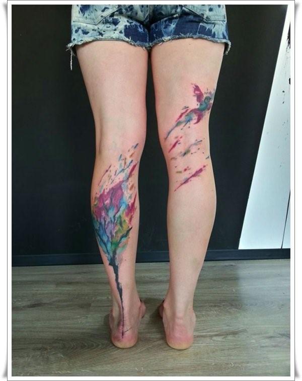 Татуировки в акварельном стиле
